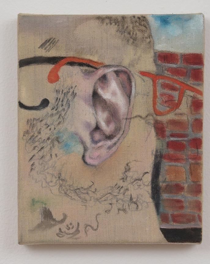 Michael Hilsman, Ear Glasses, 2016, 10 x 8, Oil on linen