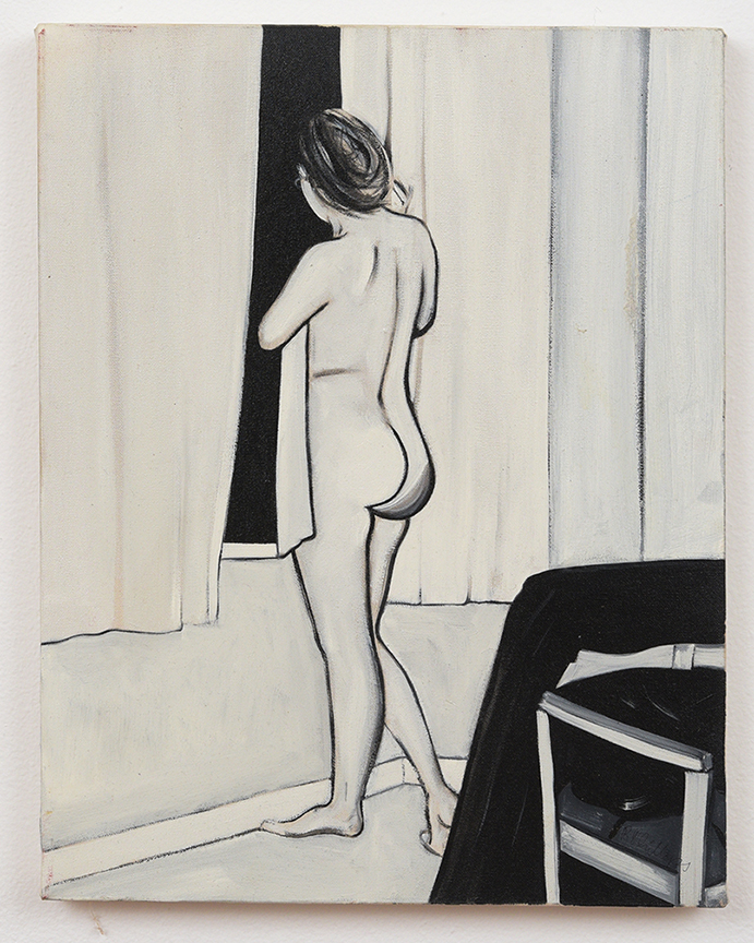 Brad Phillips, Haunted nude, 2009, 18 x 14 inches, acrylic on canvas