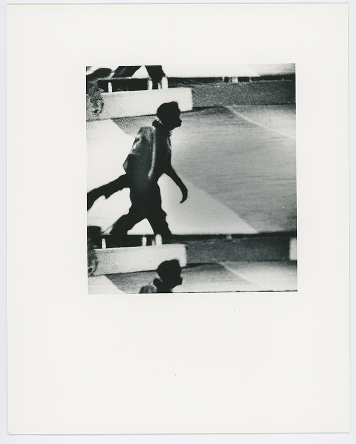 David Wojnarowicz, 1988, 8 x 10 silver fiber paper film still printed by DW. Stamped by estate