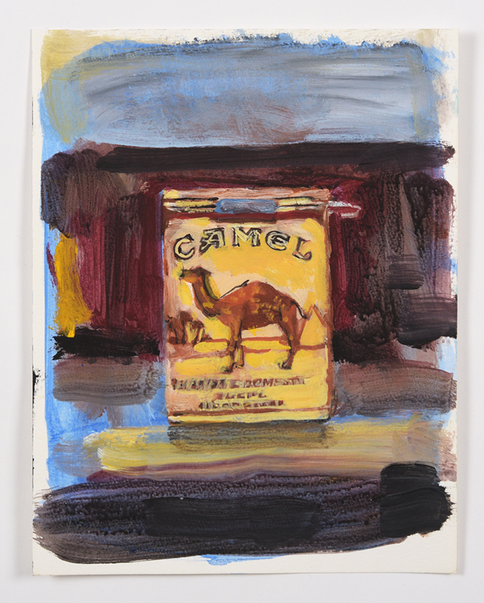 Walter Robinson, Camels, 1997, 11.5 x 8.5 inches, acrylic on paper