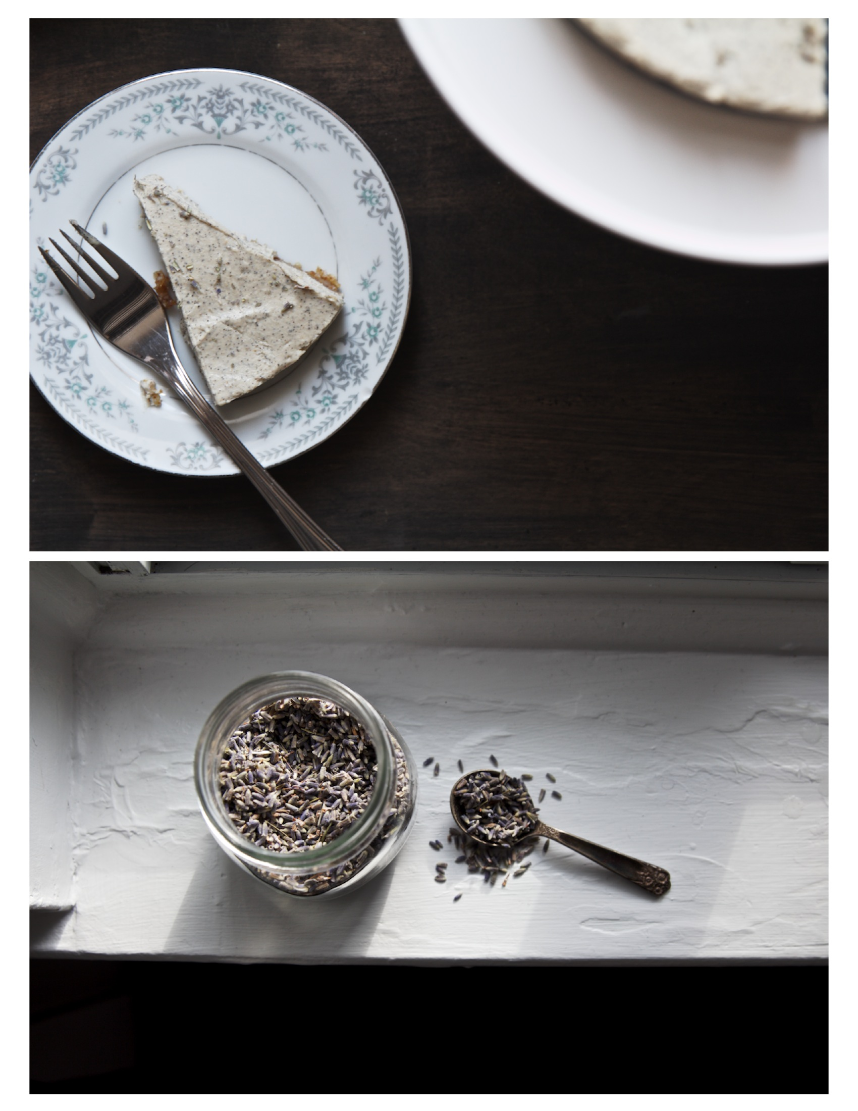 earl grey lavender cheesecake