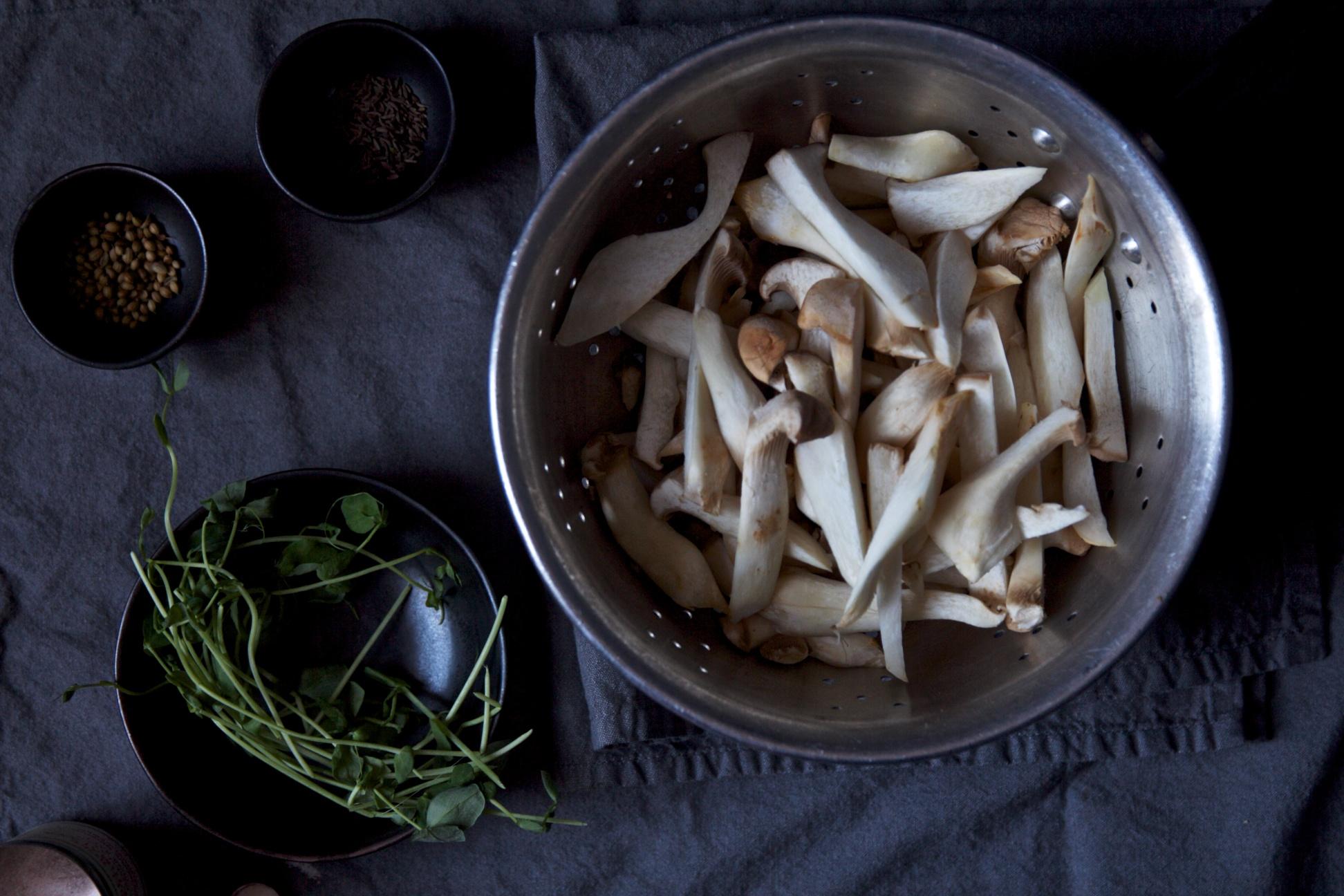 Leek + Mushroom Rice with Cashew Cream