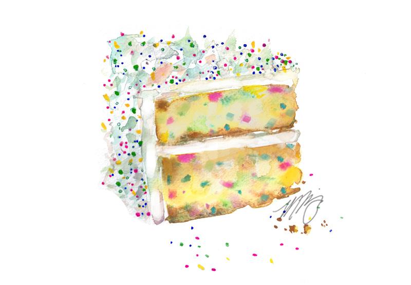 Sprinkle Cake Slice