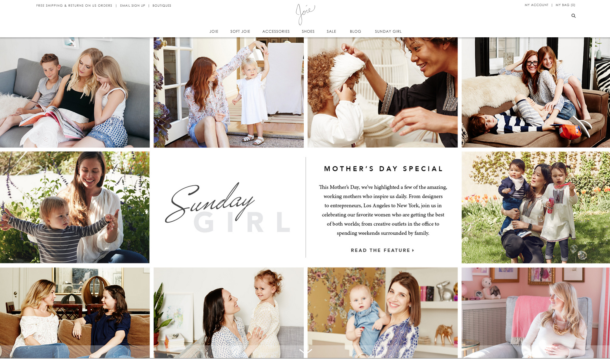 The Joie homepage featuring some really amazing mamas - I am left humbled and inspired.  Once Baby N is born, I think I'll be channeling the spirit of these ladies who all make it look so easy!