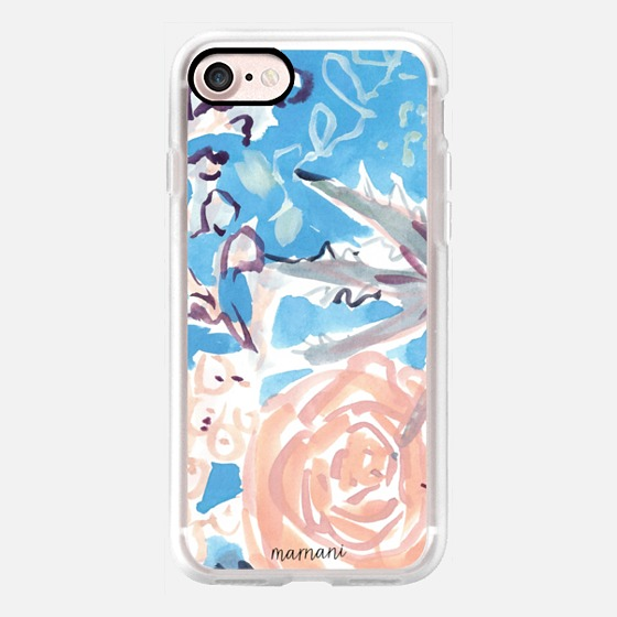 Phone Case : ALL SIZES   BLUSH & BLUE WATERCOLOR