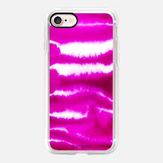 Phone Case : ALL SIZES   FUCHSIA WATERCOLOR WAVES