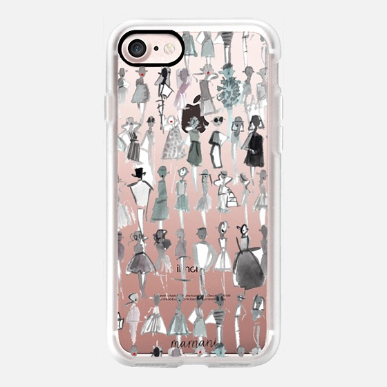Phone Case : ALL SIZES    TRANSPARENT CASE : NOT SO BASIC BLACK