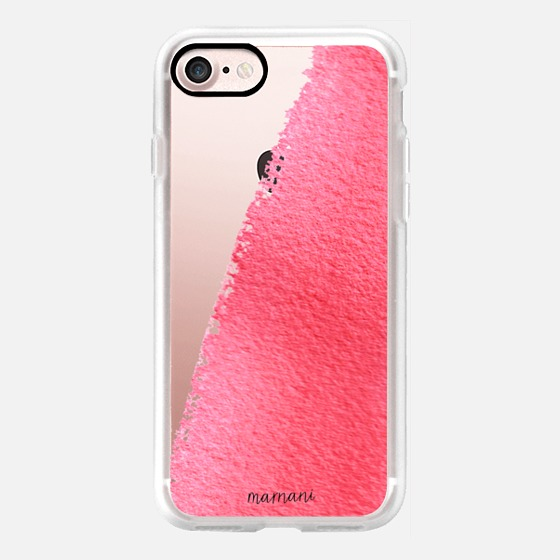 Phone Case : ALL SIZES   TRANSPARENT CASE : WATERCOLOR BRUSH