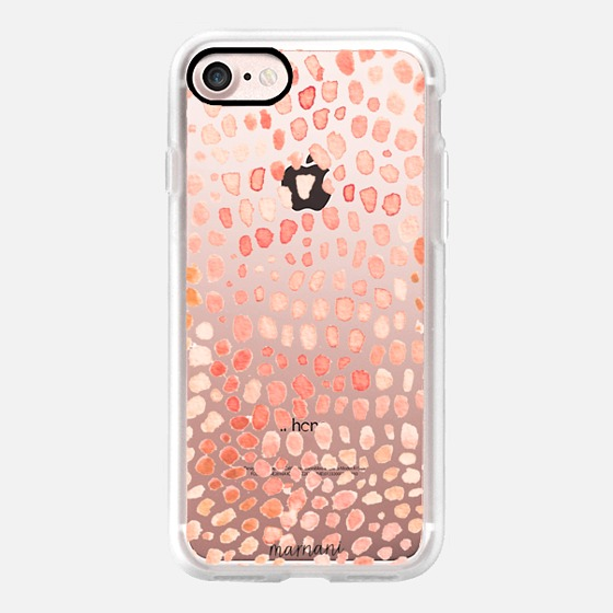 Phone Case : ALL SIZES    TRANSPARENT CASE : PEACH DOTS FOR DAYS