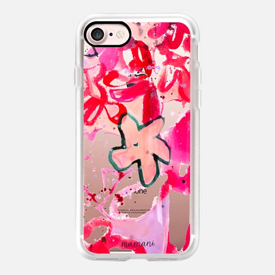 Phone Case : ALL SIZES    TRANSPARENT CASE : FUCHSIA FLORAL