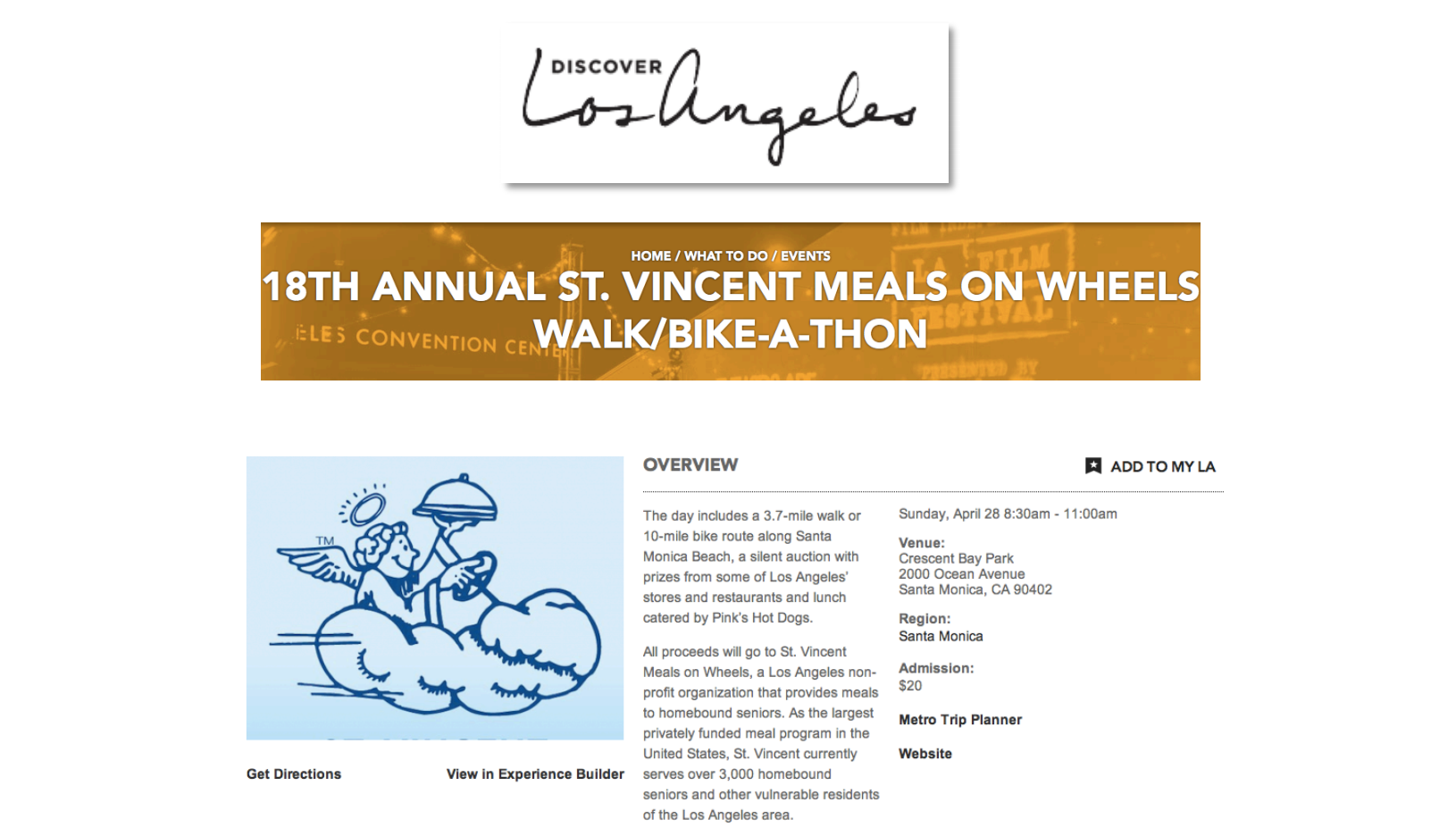 The mission of St. Vincent Meals on Wheels is to prepare and deliver nutritious meals to homebound seniors and other vulnerable residents across Los Angeles.