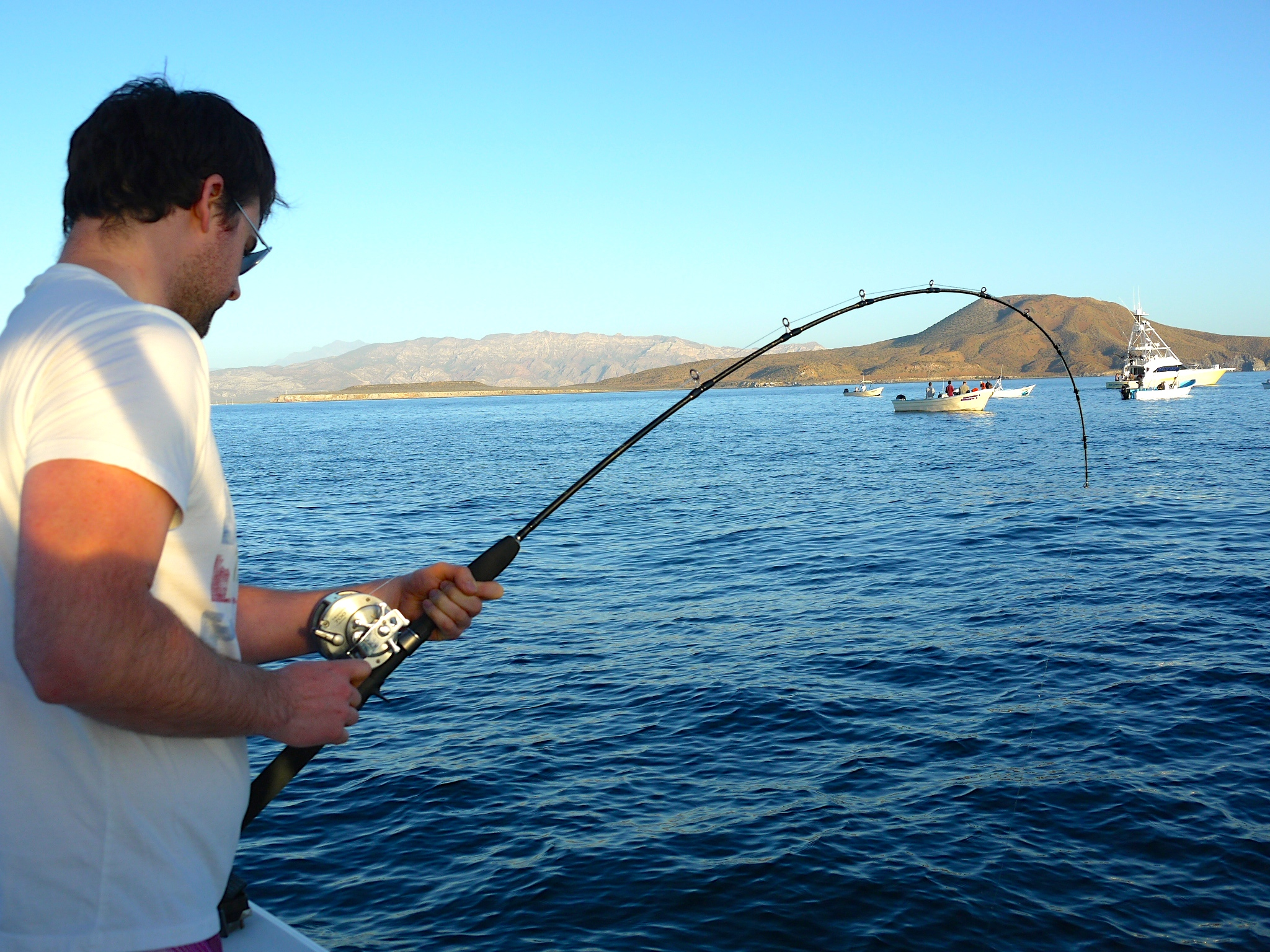 Ryan's big fish broke the line