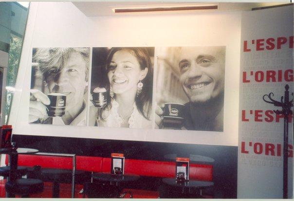 Moi in Segafredo in Vienna (funny memory)