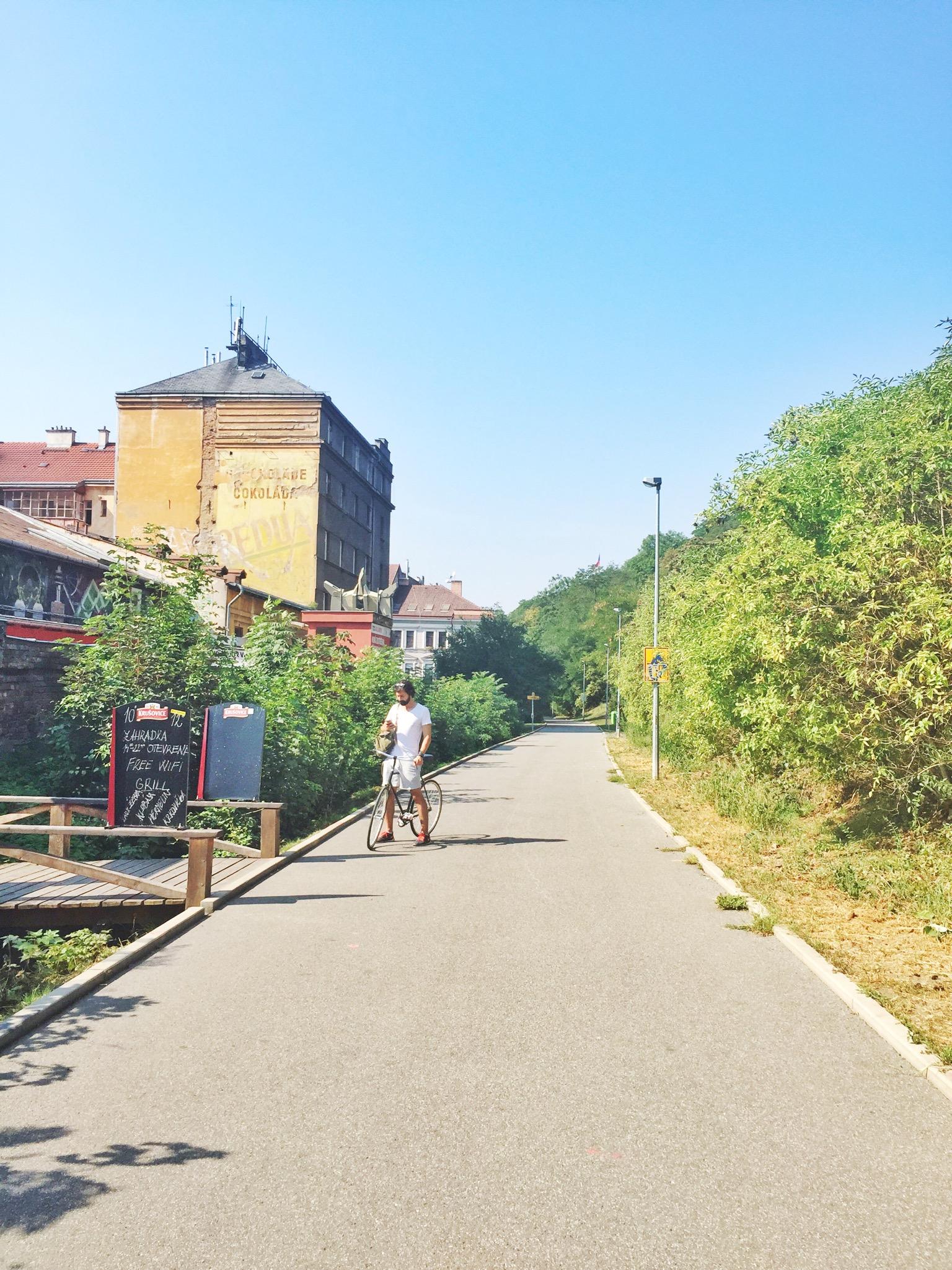 Urban Kristy Discoveries - September - Biking in Prague