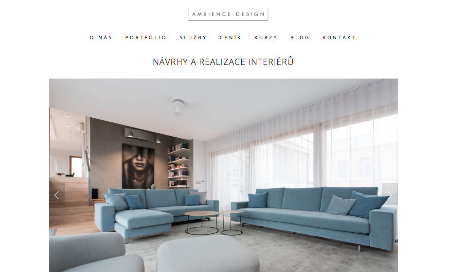 Urban Kristy - Sample work - Ambience Design Website