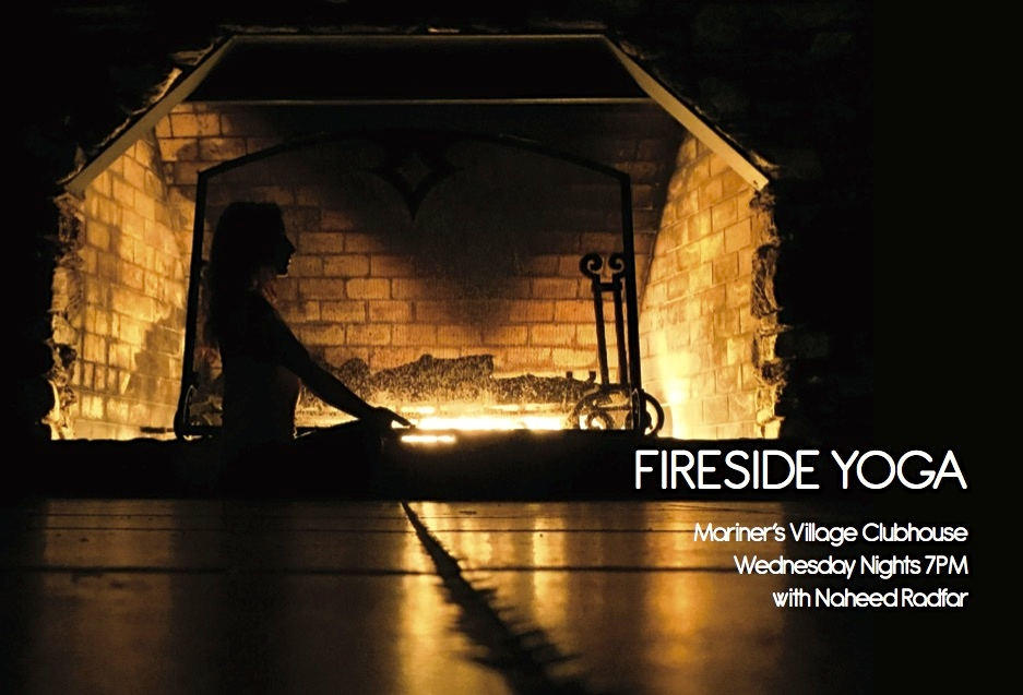 Fireside Yoga with Naheed Radfar