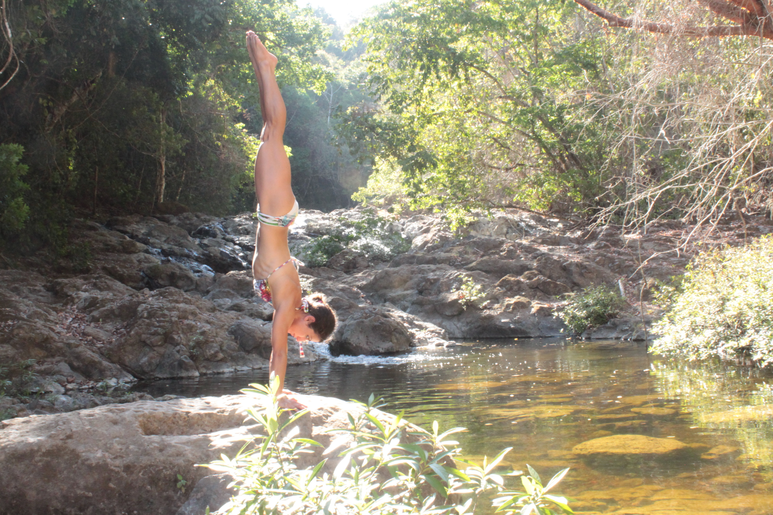 Private Waterfall Handstand