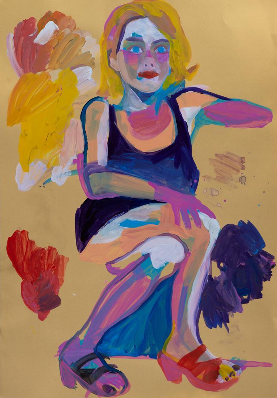 Emma Smoluchowski acrylic on paper