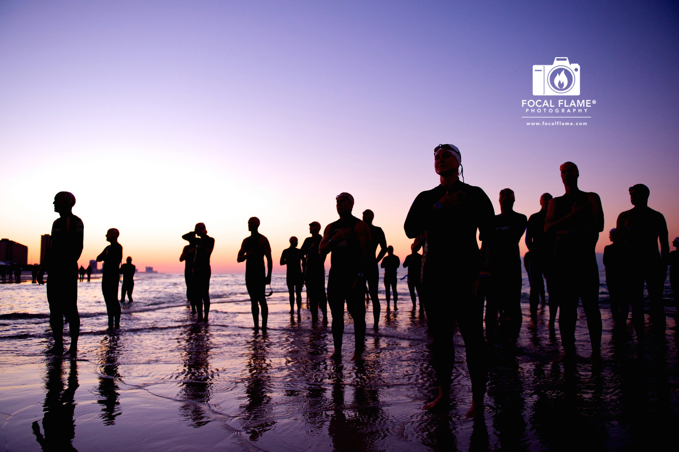 """""""Waiting"""" by Clint Thayer depicts a serene moment prior to a triathlon start."""