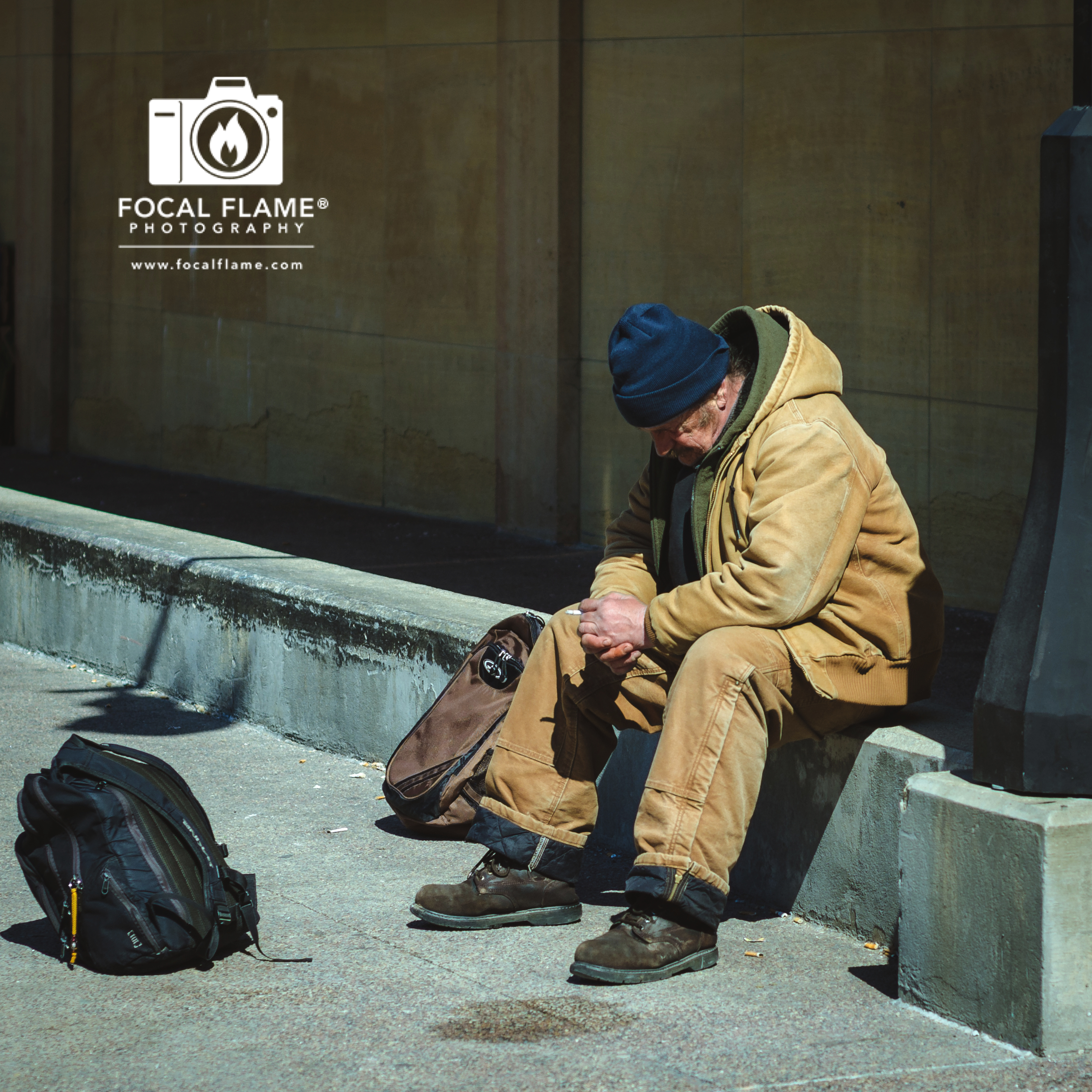 """""""Untitled I"""" by Austin Cope depicts the constant, unsettling, and frenetic motion of homelessness."""