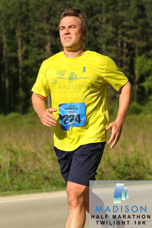Greg B. during the Spring 2014 Madison Half-Marathon. © 2014 Focal Flame Photography