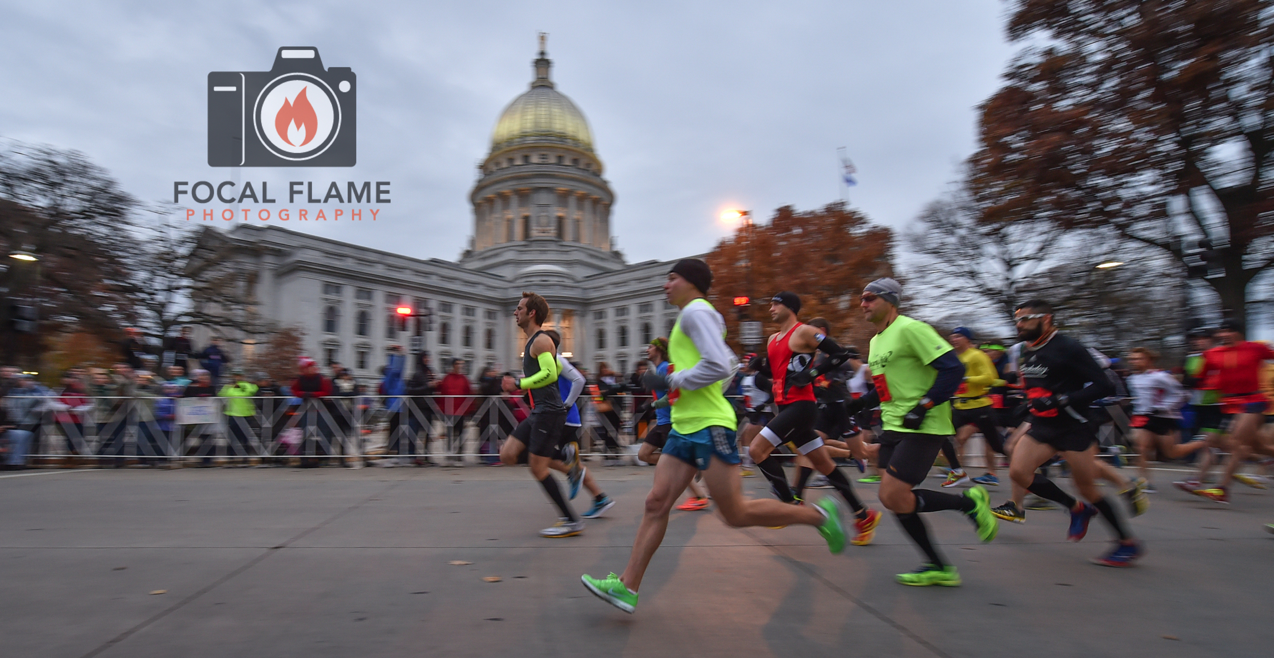 This photo from the 2014 Fall Madison Marathon was used to create the 2015 finisher's medal. © 2014 Focal Flame Photography | Credit: Clint Thayer