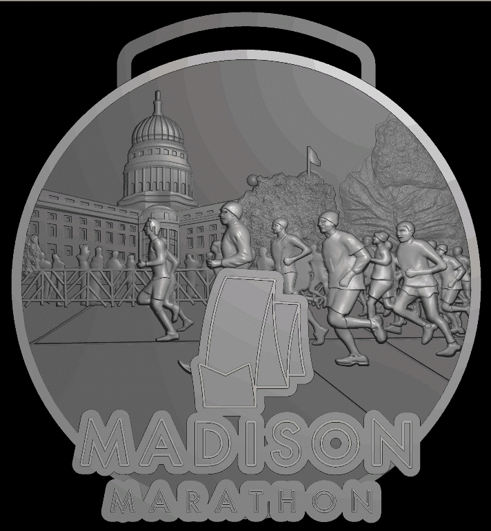 Step 2: 3-dimensional features are added to the medal. Photo courtesy Always Advancing