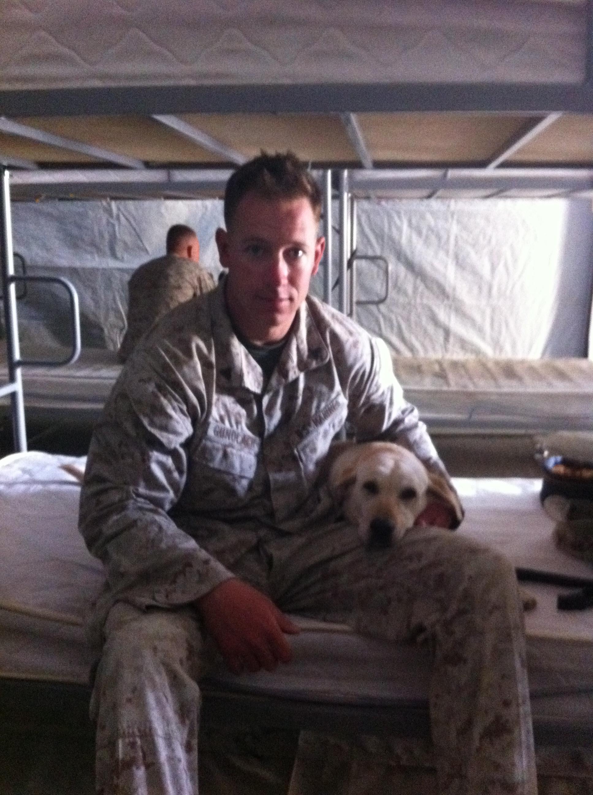Sgt. Gundlach and Casey on duty. Photo courtesy of Ross Gundlach.