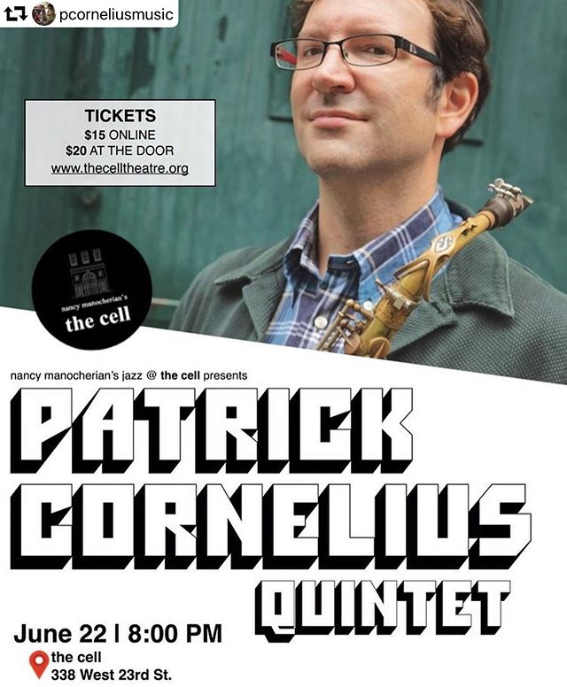 """Very excited to celebrate the release of @pcorneliusmusic new @positone_records album """"This Should Be Fun"""" tonight @thecelltheatre at 8pm! Featuring an amazing group of musicians (@peterslavovbass, Shai Maestro, @clarencepenn) and Patrick's new compositions, it will be a great night of music. 🎼🎺🎷 #jazz #albumrelease #positonerecords #trombone #jazztrombone #altosaxophone #drums #piano #bass #bachbrass"""
