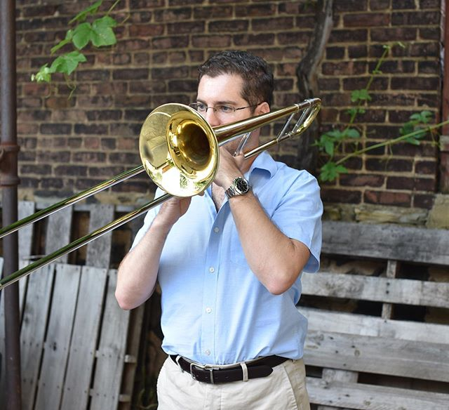 Summertime shot by my very talented wifey @angievnyc 📷📷. #summer #nyc #trombone #jazztrombone #connselmer #bachbrass