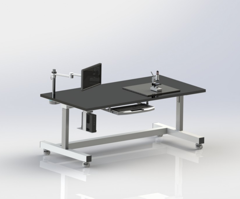 Custom Anti-vibration table with vertical articulation