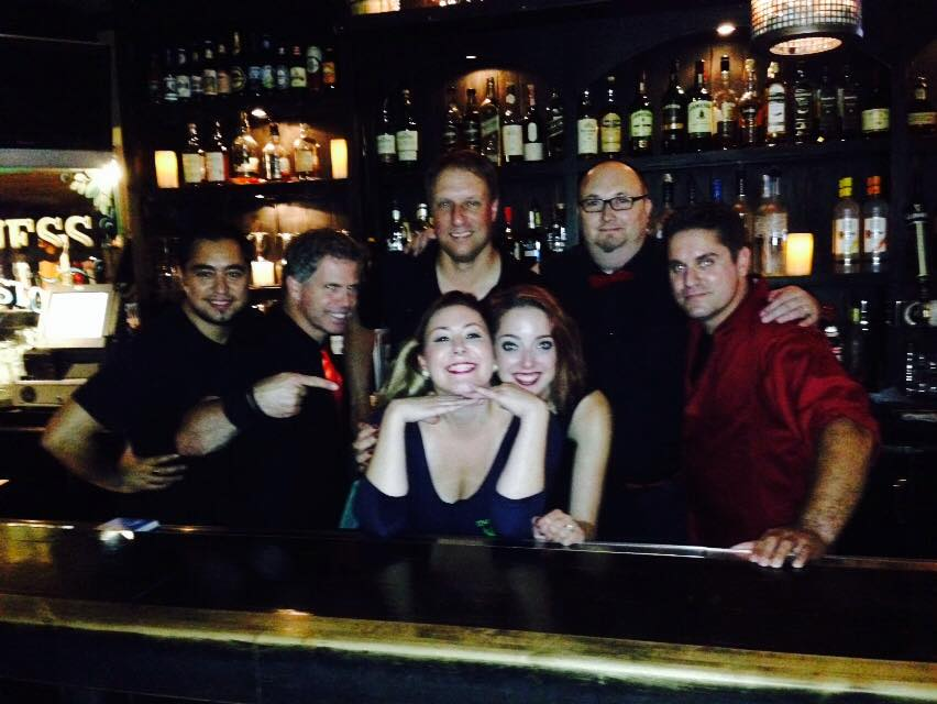 Dead Ringer climbed behind our bar for a photo-op with our beauteous bartender Crystal!