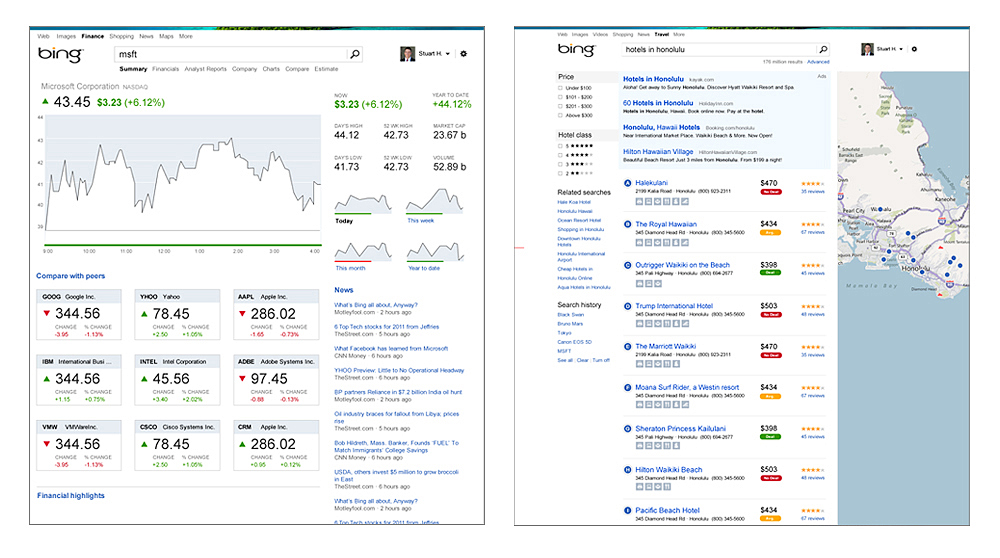 One of many case studies re-imagining visual progression of certain tools and features already existing on Bing. Emphasis on the Modern principles in present Microsoft products: reduction, simplification, consistency, and ease of use.