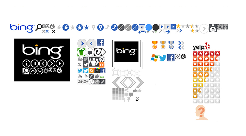 One initiative I directly owned on the Design team was to clean up and improve some of the most common sprites and final assets used on Bing. I took ownership of sprites created for new experiences, and with Management and Development help, I improved efficiency, consistency and streamlined the communication process to a once divided and fragmented process in product builds.