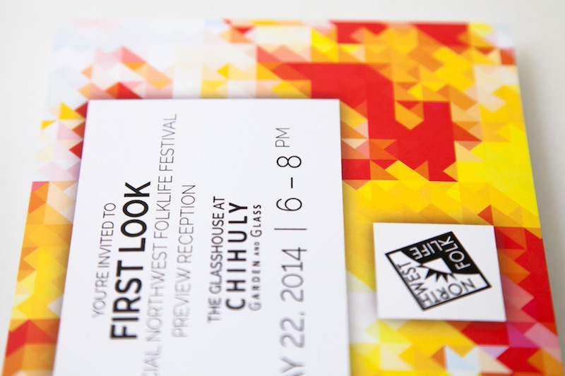 A postcard for the 2014 Folklife Festival in Seattle, WA