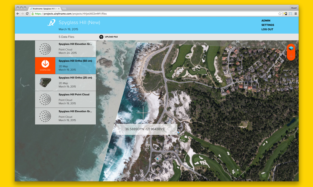 Internal Client Data Viewer tool: Project Viewer.