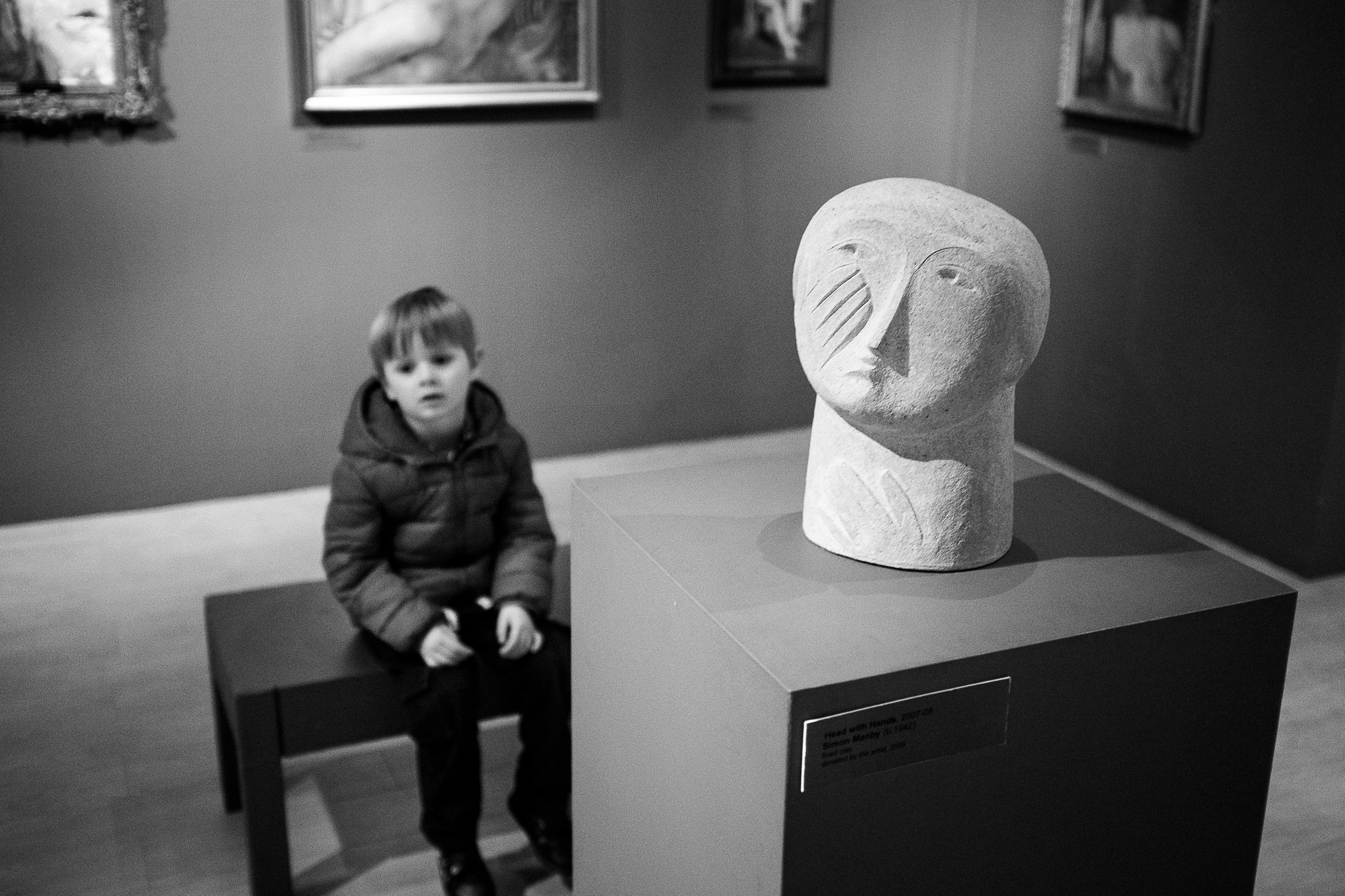 Head With Hands  - The Potteries Museum & Art Gallery, Stoke-on-Trent -February 2015