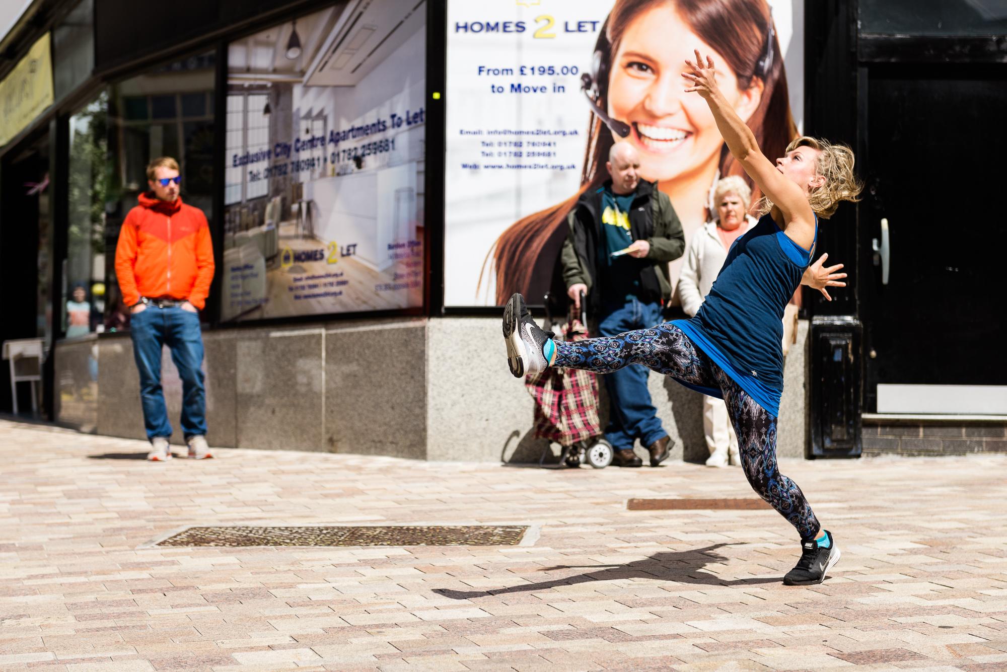 Documentary Photographs Dance Photography - Restoke - Big Dance - Dancing in the Street -  Picadilly, Hanley - Jenny Harper-1.jpg