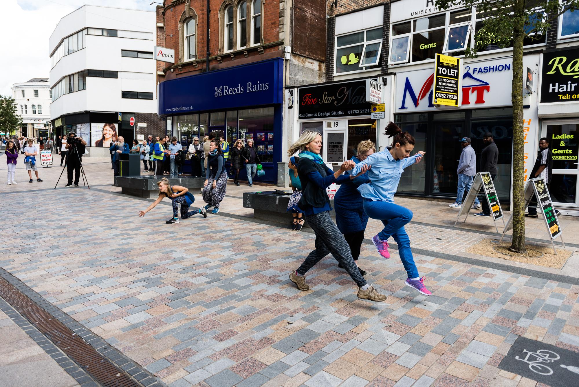 Documentary Photographs Dance Photography - Restoke - Big Dance - Dancing in the Street -  Picadilly, Hanley - Jenny Harper-2.jpg
