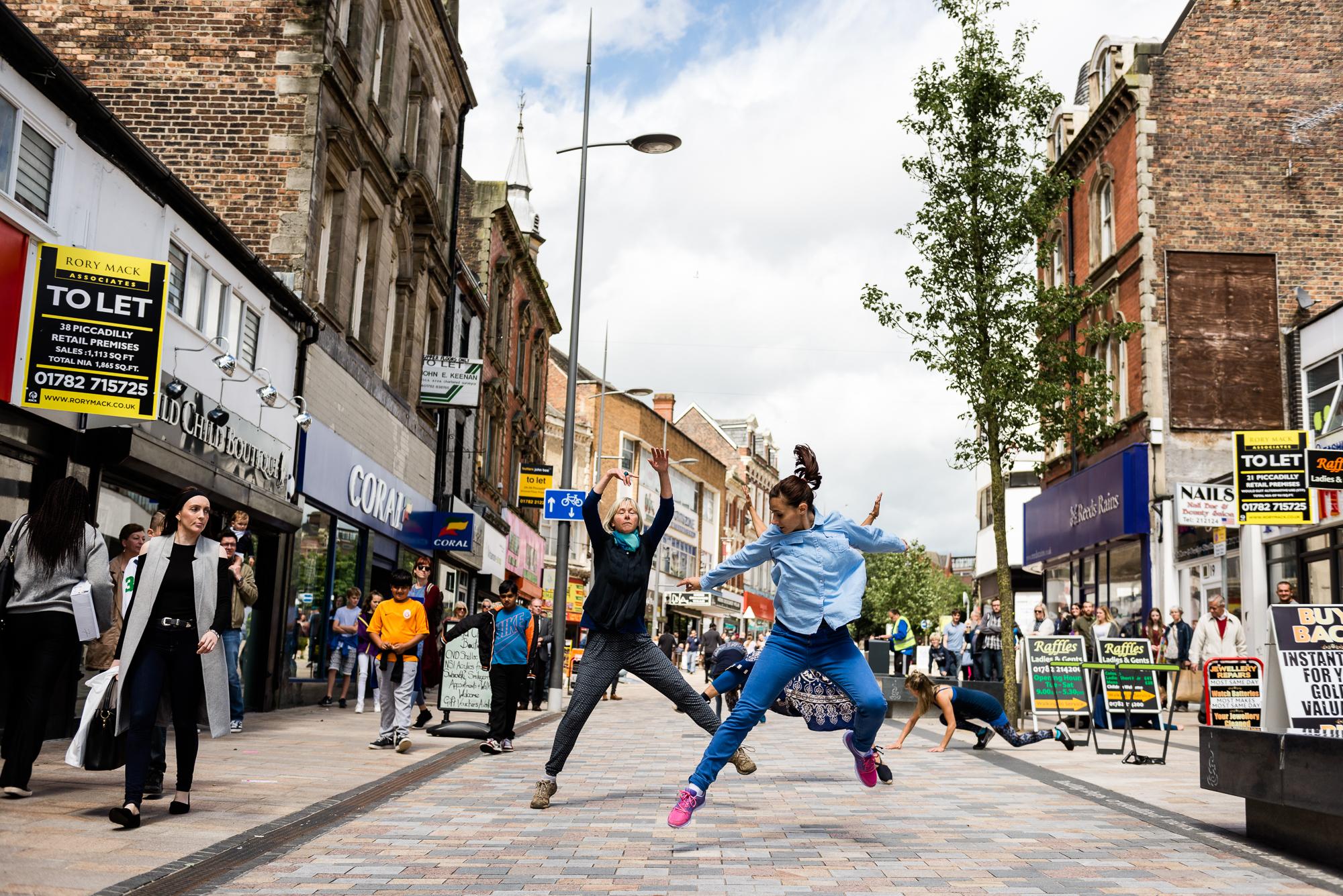 Documentary Photographs Dance Photography - Restoke - Big Dance - Dancing in the Street -  Picadilly, Hanley - Jenny Harper-3.jpg
