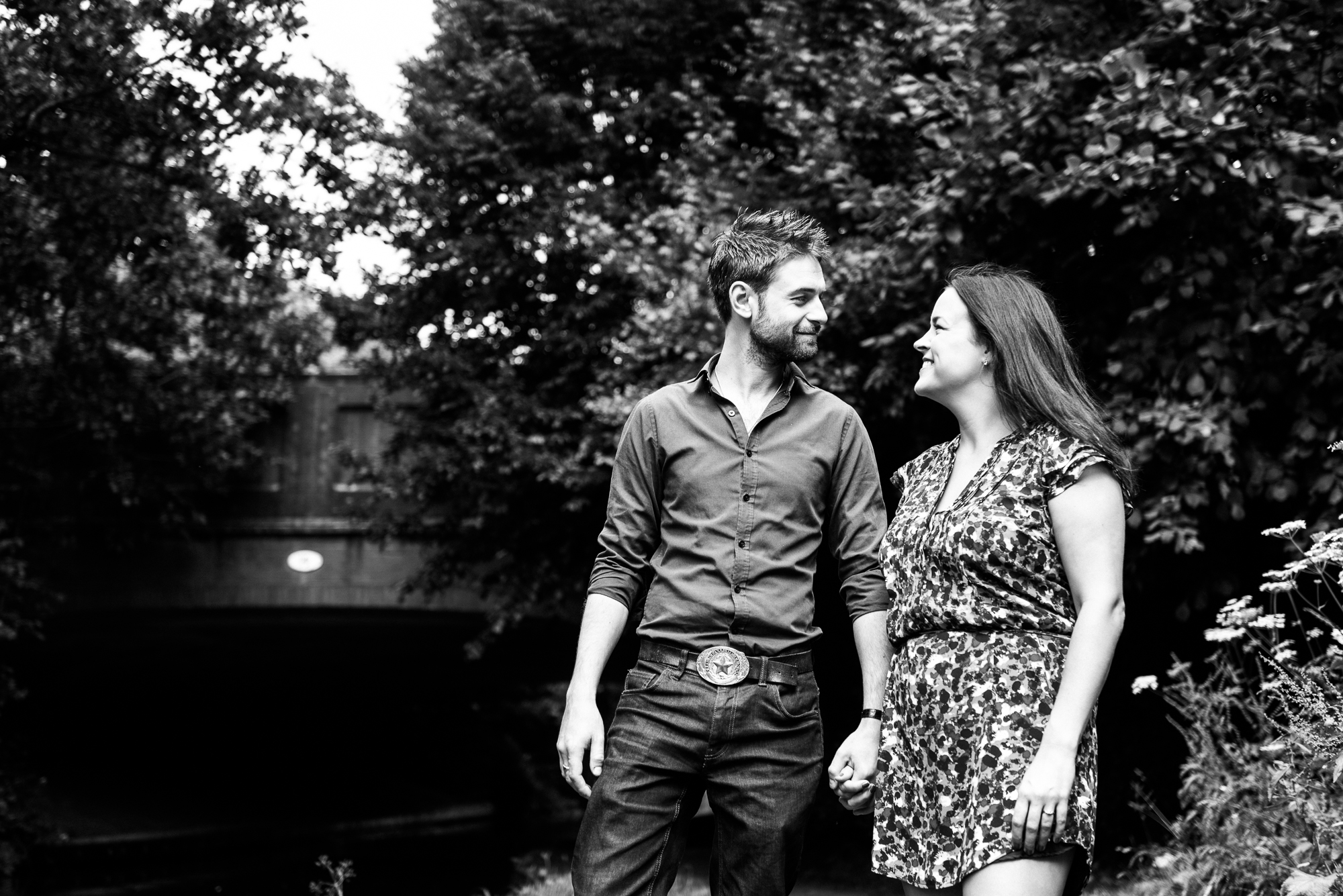 Pre-Wedding Session Engagement Photos Couple Shoot English countryside Canal - Jenny Harper Photography-1.jpg