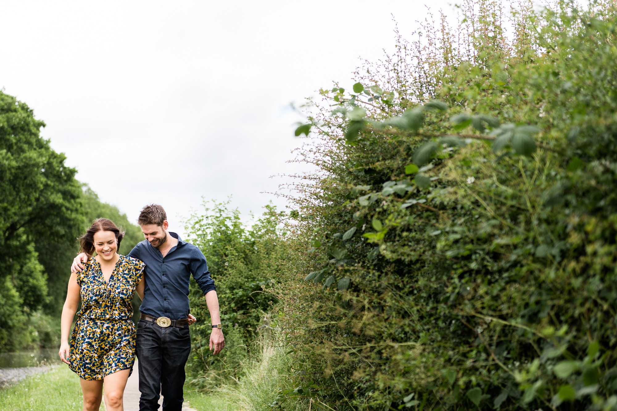 Pre-Wedding Session Engagement Photos Couple Shoot English countryside Canal - Jenny Harper Photography-5.jpg