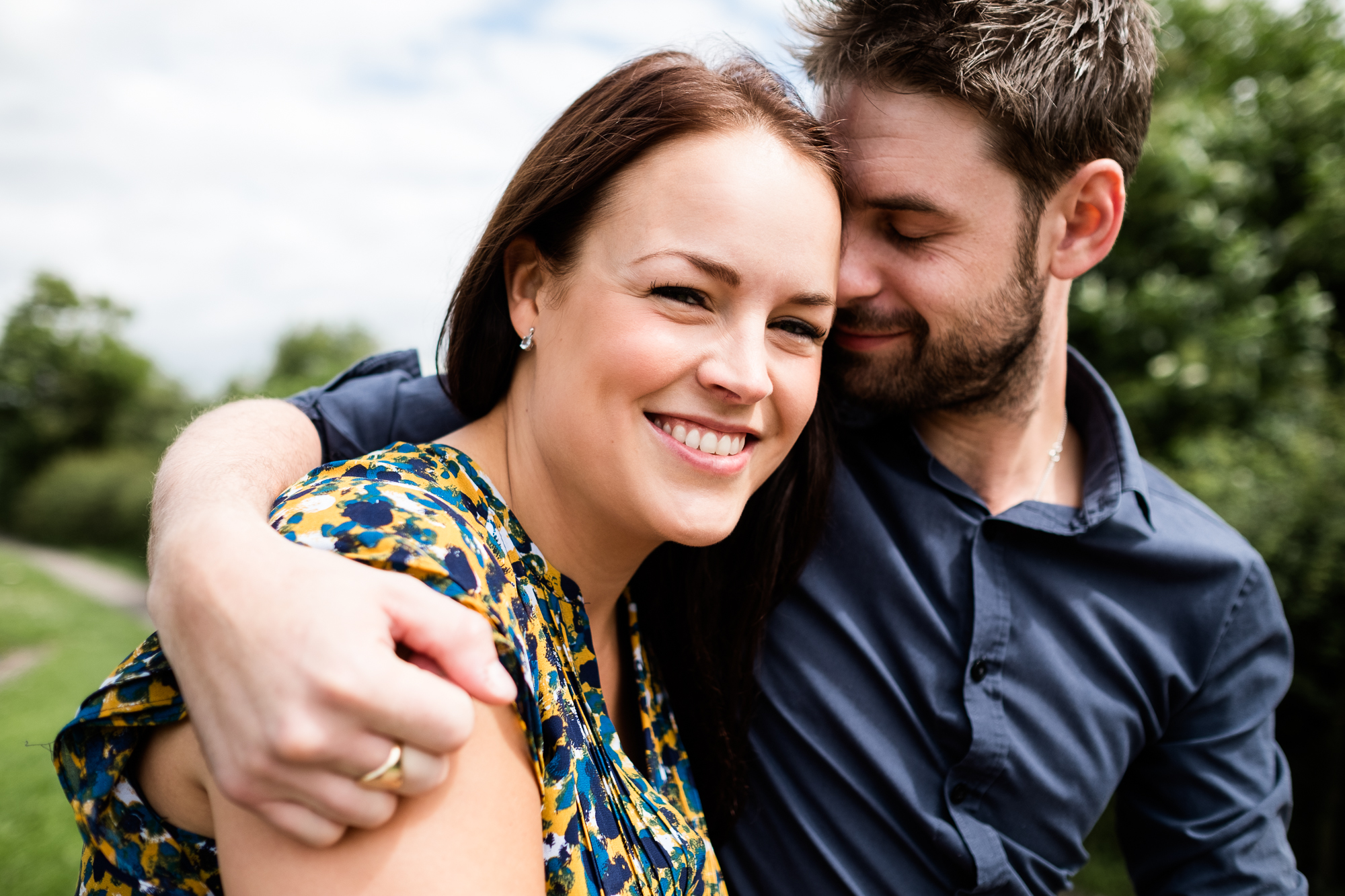 Pre-Wedding Session Engagement Photos Couple Shoot English countryside Canal - Jenny Harper Photography-11.jpg