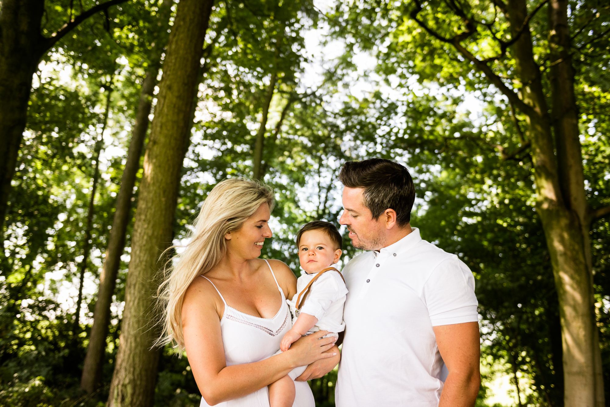 Staffordshire Lifestyle Family Portrait Photography Baby Photographer Outdoors Sunny Summer Field Trees Hay Farm - Jenny Harper Photography-5.jpg