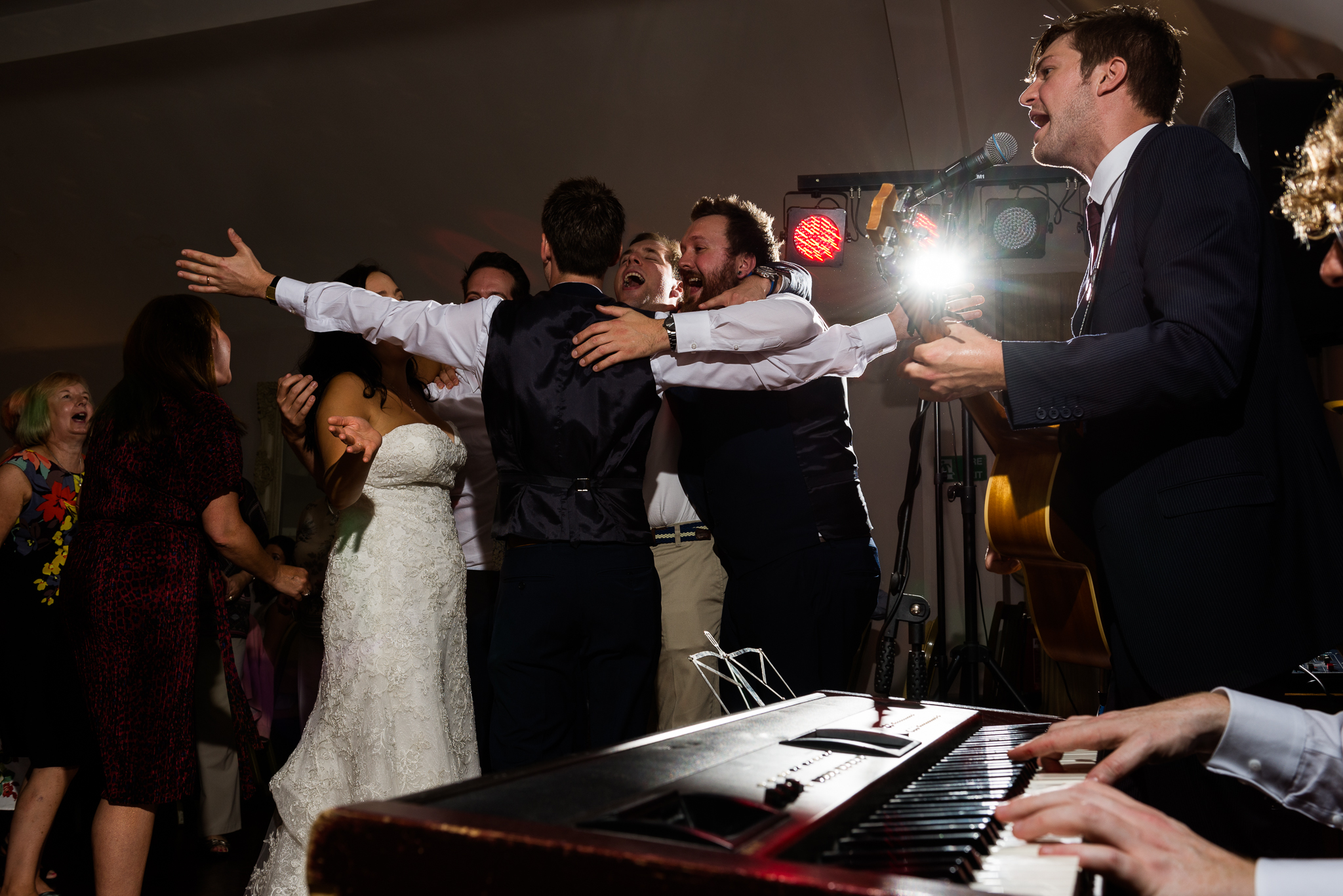 Relaxed Summer Wedding at The Manor, Cheadle Guitarist Musicians Vinyl-58.jpg