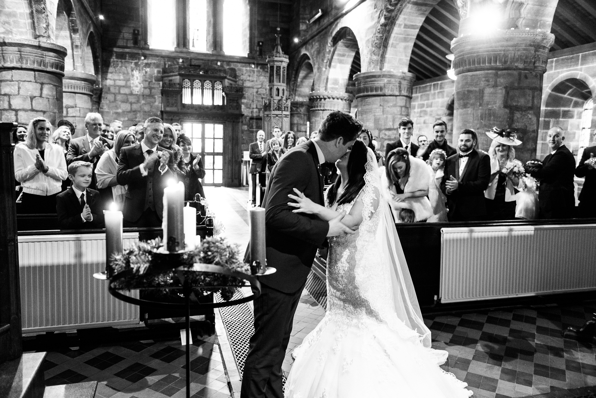 Winter Wedding Christmas Wedding Photography Stafford, Staffordshire Saint Chad Weston Hall Documentary Photographer - Jenny Harper-24.jpg