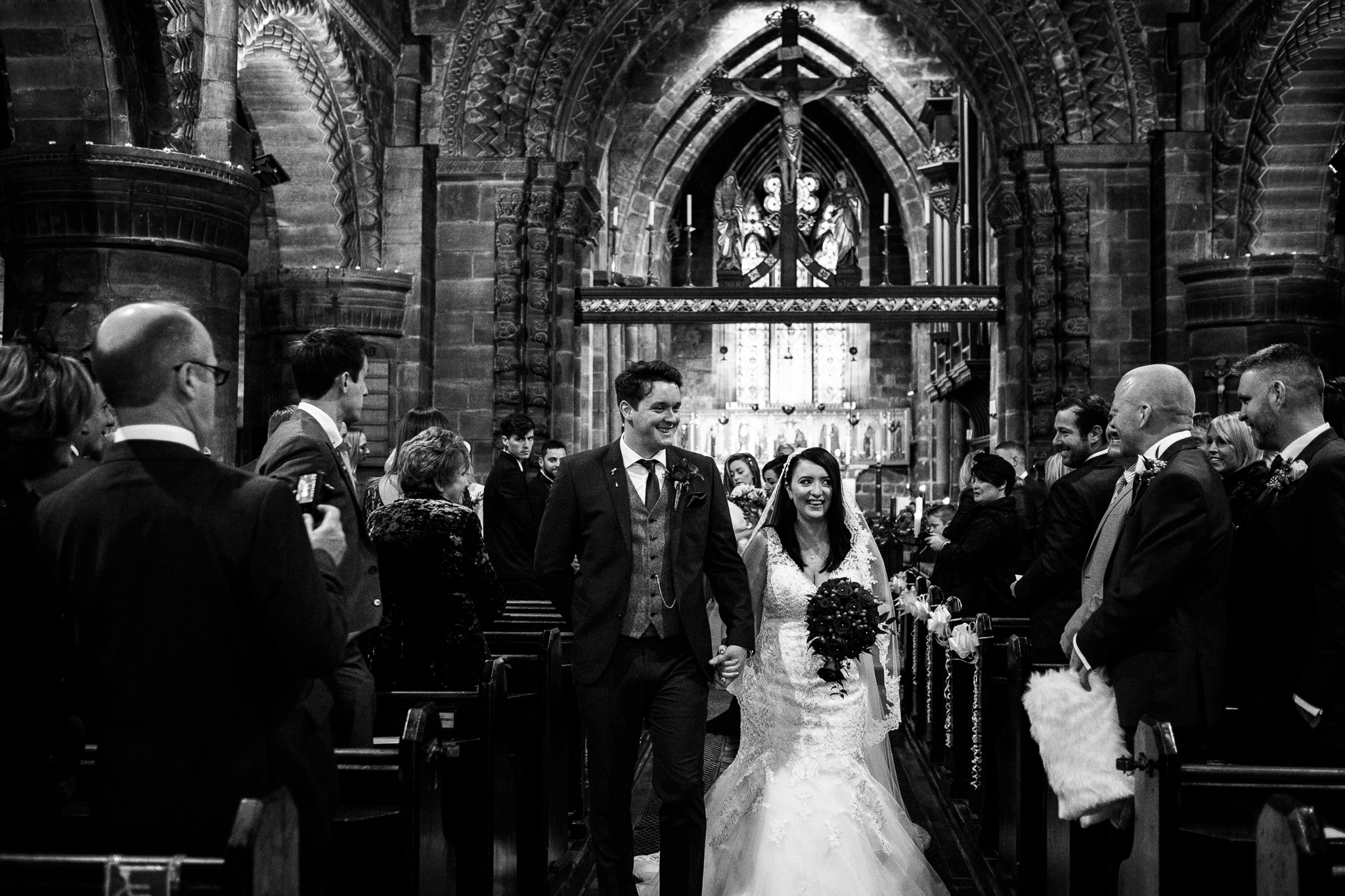 Winter Wedding Christmas Wedding Photography Stafford, Staffordshire Saint Chad Weston Hall Documentary Photographer - Jenny Harper-28.jpg