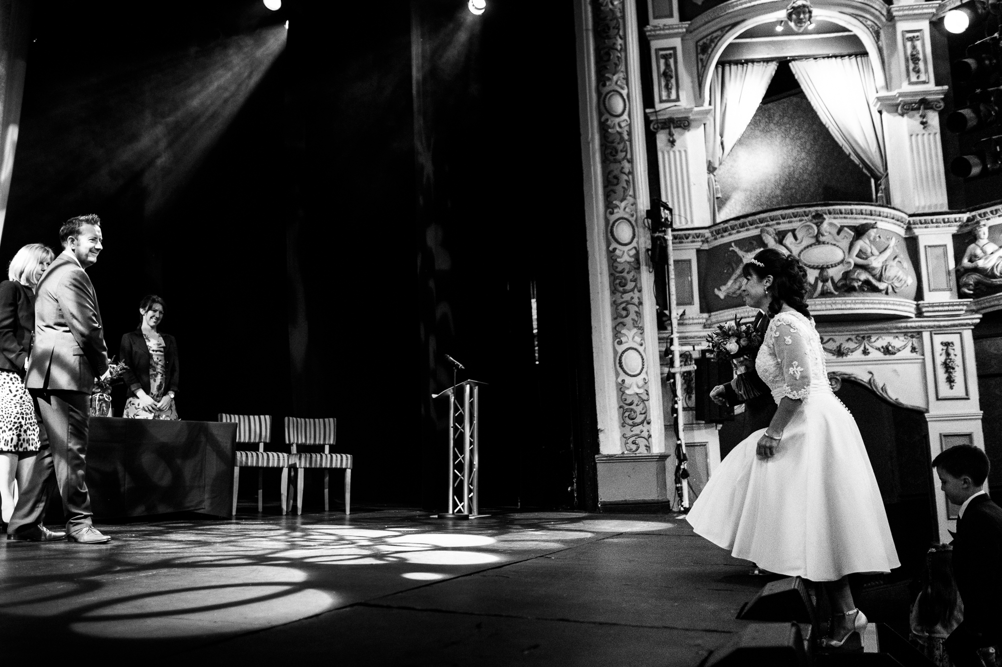 Cheshire Wedding Photography at Crewe Lyceum Theatre Stage Wedding Art Deco 20s - Jenny Harper-17.jpg