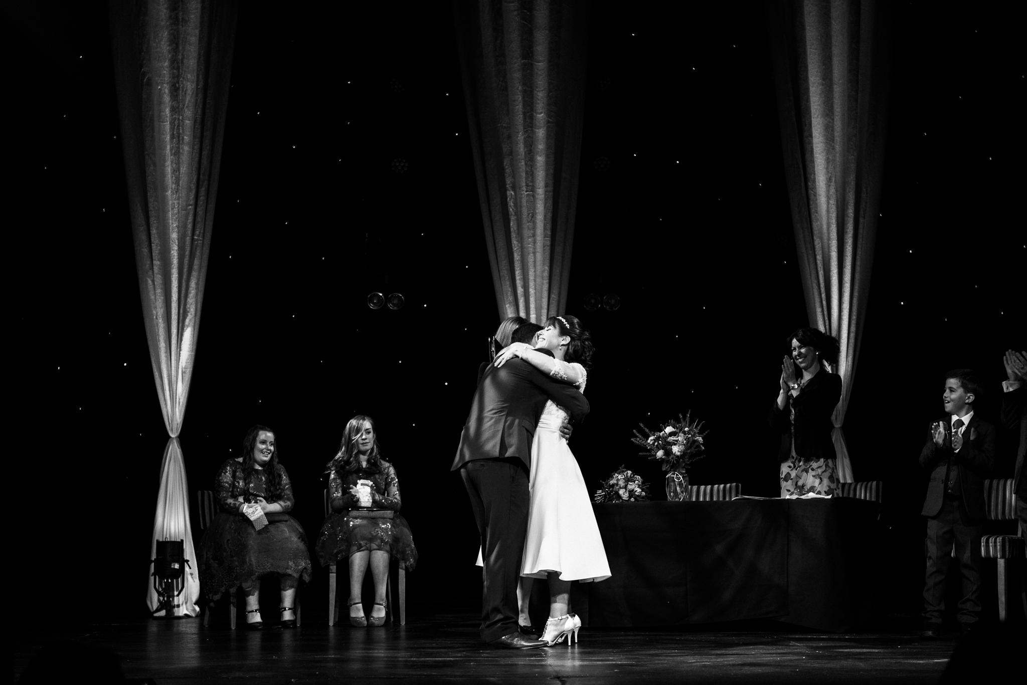 Cheshire Wedding Photography at Crewe Lyceum Theatre Stage Wedding Art Deco 20s - Jenny Harper-23.jpg