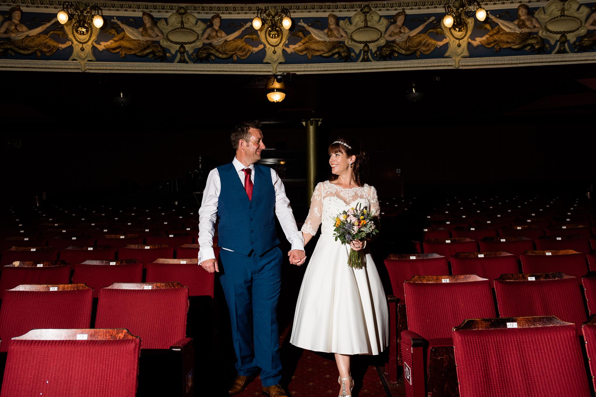 Cheshire Wedding Photography at Crewe Lyceum Theatre Stage Wedding Art Deco 20s - Jenny Harper-31.jpg